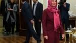 سفر موگرینی به تهران و عزم جدی اروپا برای افزایش تعاملات علمی