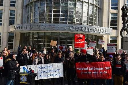 تجمع اعتراضی به بازداشت دانشجوی ایرانی